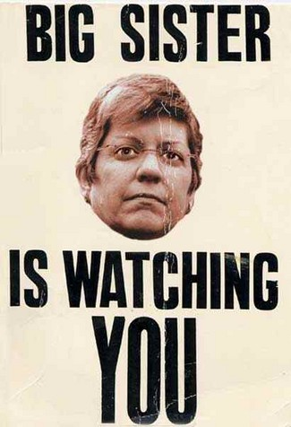 aa janet napolitano big sister poster good one During the night, I saw an old woman taking care of the two kids, ...