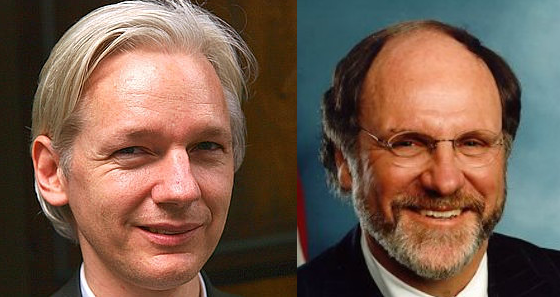 Julian Assange and John Corzine